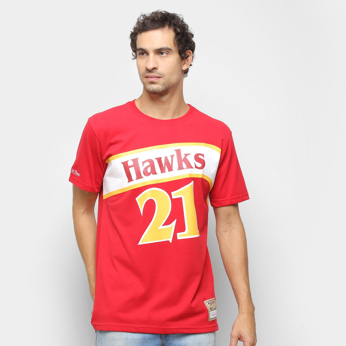 Camiseta Atlanta Hawks Wilkins Mitchell & Ness Masculina