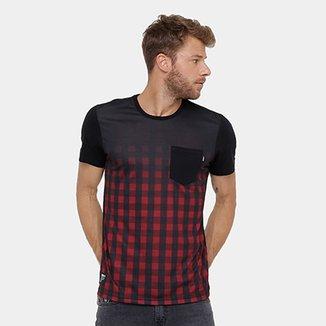 Camiseta Okdok Classic Xadrez C  Bolso Masculina 922086f2c18ae