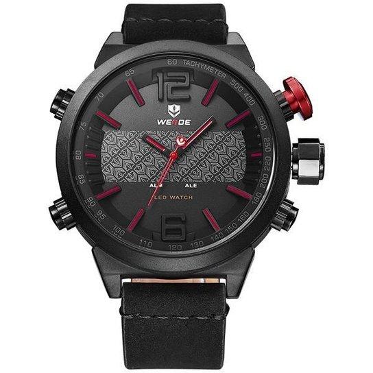 61a23d022ac Relógio Weide Anadigi WH-6101 - Vermelho - Compre Agora
