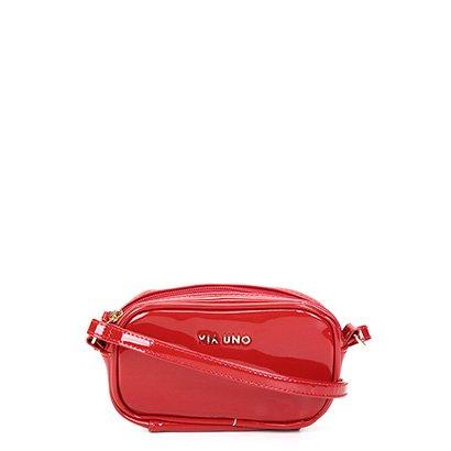 Bolsa Via Uno Mini Bag Verniz Feminina