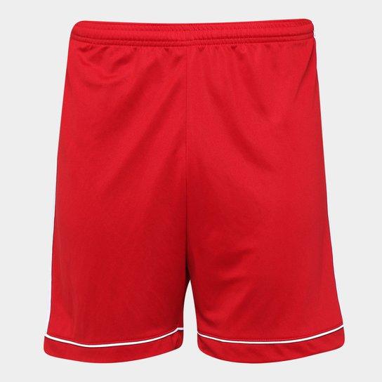 91735e6f12 Calção Adidas Squadra 17 Masculino - Vermelho e Branco - Compre ...