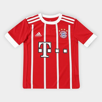 Camisa Bayern de Munique Infantil Home 17 18 s nº - Torcedor Adidas 406627f840b6e