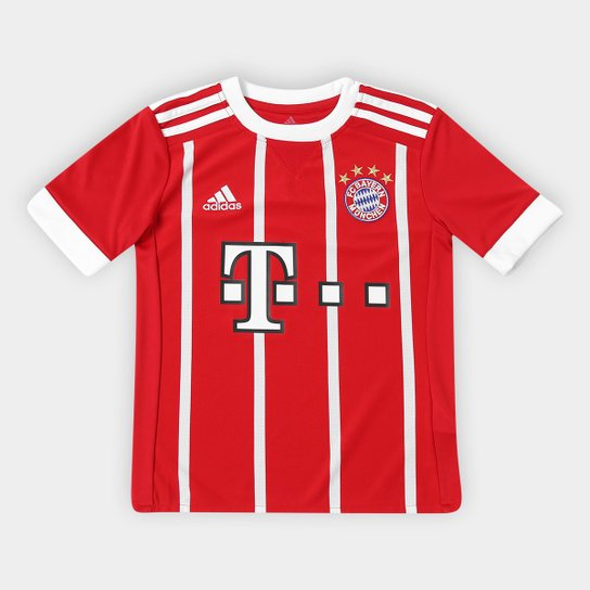 Camisa Bayern de Munique Infantil Home 17 18 s nº - Torcedor Adidas ... 0df4e289b2816