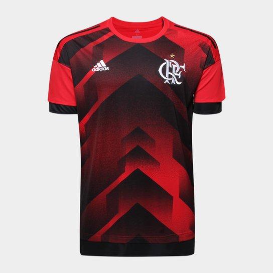 e75122b5ceffc Camisa Flamengo 17/18 Pré Jogo Adidas Masculina - Vermelho