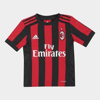 1bfc19e75011b Camisa Milan Infantil Home 17 18 s nº - Torcedor Adidas