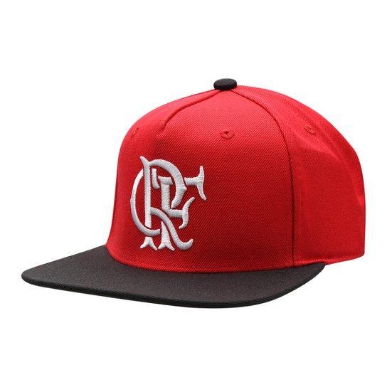 Boné Adidas Flamengo Aba Reta Masculino - Vermelho+Preto a100bd0436793