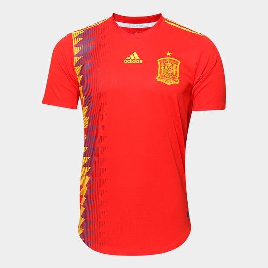 Camisa Seleção Espanha Home 2018 s n° - Jogador Adidas Masculina - Vermelho f4a6e90a2ff35