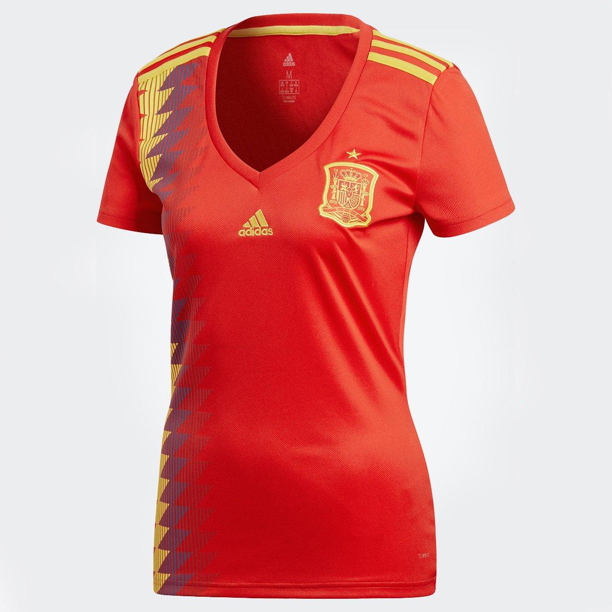 de74332516 Camisa Seleção Espanha Home 2018 s n° Torcedor Adidas Feminina
