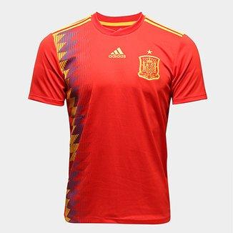 Camisa Seleção Espanha Home 2018 s n° Torcedor Adidas Masculina a62f28940e146