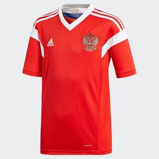 Camisa Seleção Rússia Infantil Home 2018 s n° Torcedor Adidas 5129fe148fa40