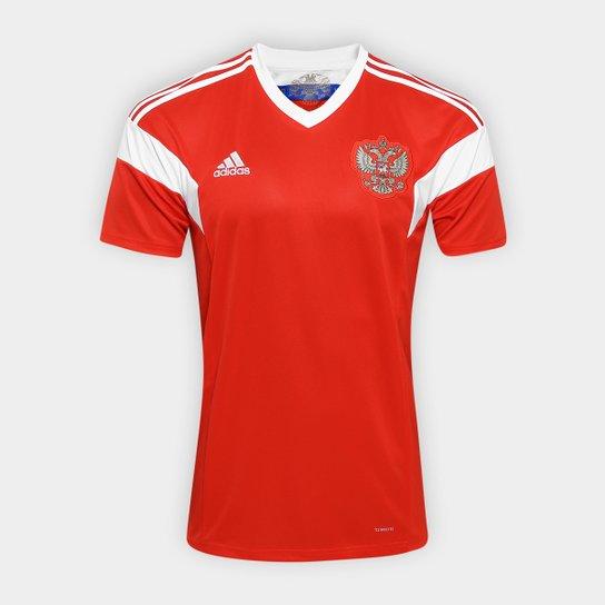 Camisa Seleção Rússia Home 2018 s n°Torcedor Adidas Masculina - Vermelho 0921f16b76f5f