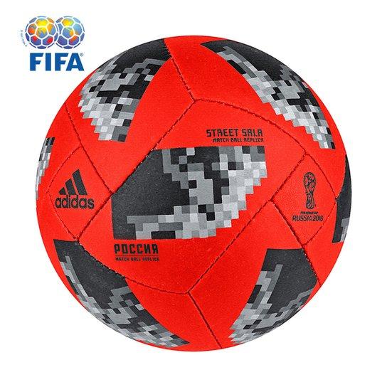 d97fa31060f17 Bola Futsal Adidas Telstar 18 Street Copa do Mundo FIFA - Vermelho ...