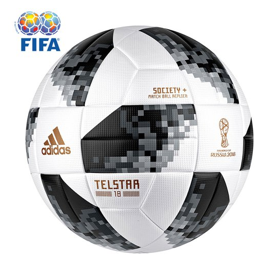 Bola Futebol Society Adidas Telstar 18 TOP Copa do Mundo FIFA - Branco c8bc73a22ab85