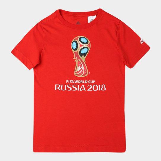 f4a95b6aa2c54 Camiseta Infantil Adidas Emblema Copa - Vermelho - Compre Agora ...