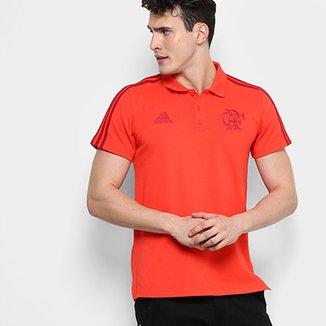 Camisa Polo Flamengo Adidas 3 Stripes Masculina 92f46645725eb