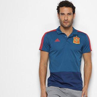 Compre Camisa Polo Adidas Selecao Espanha Viagem 1213 Null Online ... ebd227598829c