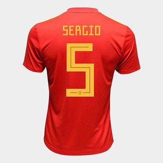 7332ea5d42c74 Camisa Seleção Espanha Away 2018 n° 15 Ramos - Torcedor Adidas Masculina