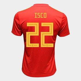 Camisa Seleção Espanha Away 2018 n° 22 Isco - Torcedor Adidas Masculin. 5305920e8b7