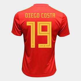 Camisa Seleção Espanha Home 2018 n° 19 Diego Costa - Torcedor Adidas M.. a012f1042b97d