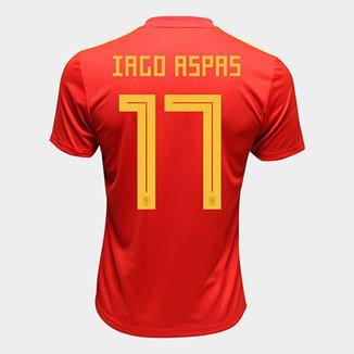 e5a8c5337 Camisa Seleção Espanha Home 2018 n° 17 Iago Aspas - Torcedor Adidas  Masculina