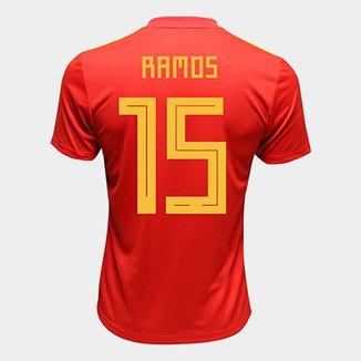 54c0bc9418 Camisa Seleção Espanha Home 2018 n° 15 Ramos - Torcedor Adidas Masculina