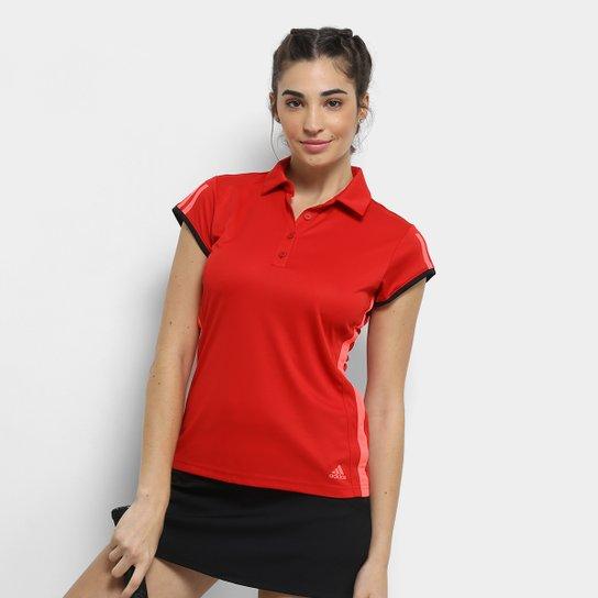Camisa Polo Adidas Club 3 Listras Feminina - Vermelho - Compre Agora ... 3aa9f4dca9a45