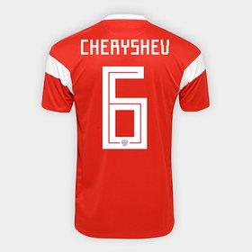 307bab10e8f14 Camisa Seleção Rússia Home 2018 n° 6 Cheryshev - Torcedor Adidas Mascu.