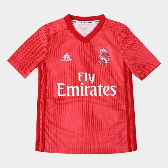 8df86e0d7 Camisa Real Madrid Infantil Third 2018 s n° - Torcedor Adidas - Vermelho