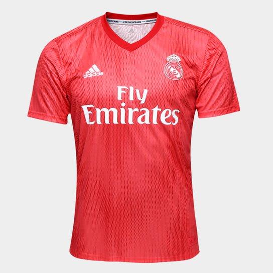 cb74aa80f15 Camisa Real Madrid Third 2018 s n° - Torcedor Adidas Masculina - Vermelho