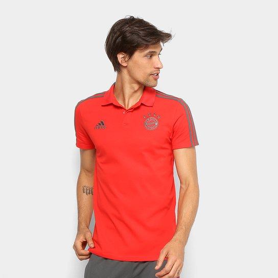 Camisa Polo Bayern de Munique Adidas Masculina - Vermelho - Compre ... 5940505517db6