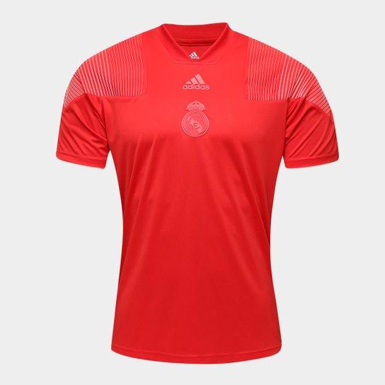 Camiseta Real Madrid Icon Adidas Masculina - Vermelho - Compre Agora ... 28163a201fef7