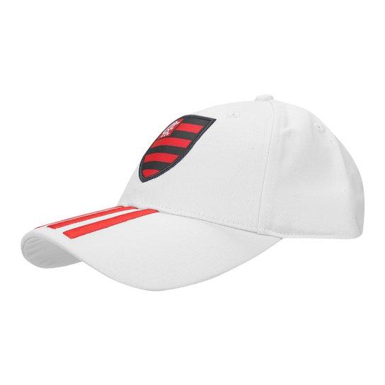 5f73144162885 Boné Adidas Flamengo 3Stripes Aba Curva - Vermelho | Netshoes