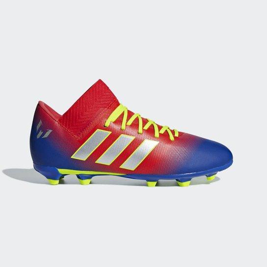 d8767ea21e Chuteira Campo Infantil Adidas Nemeziz Messi 18 3 FG - Vermelho ...