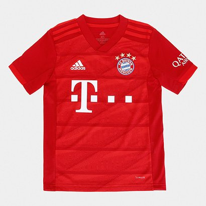 Camisa Bayern de Munique Infantil Home 19/20 s/n° Torcedor Adidas