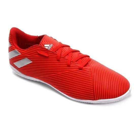 693f42997dd36 Chuteira Futsal Juvenil Adidas Nemeziz 19 4 IN - Vermelho | Netshoes