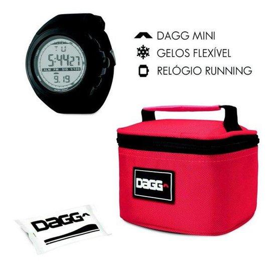 9d24f9d667d Kit com Mini Bolsa Térmica Fitness Dagg 900ml e Relógio Digital Esportivo  Dagg Running - Vermelho
