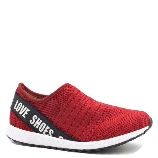 13148f6c4 Tênis Bebecê Malha Summer Love Shoes Feminino - Vermelho