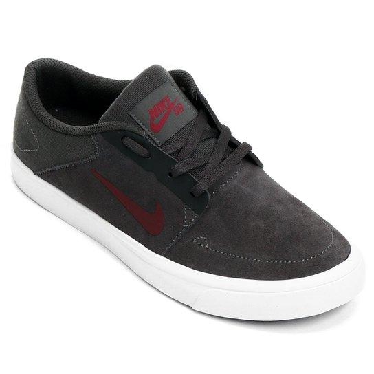 Tênis Nike SB Portmore Juvenil - Chumbo+Vermelho 35bf784926df0