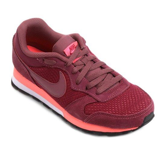 c64b0e58c718e Tênis Nike Md Runner 2 Feminino - Vermelho Escuro - Compre Agora ...
