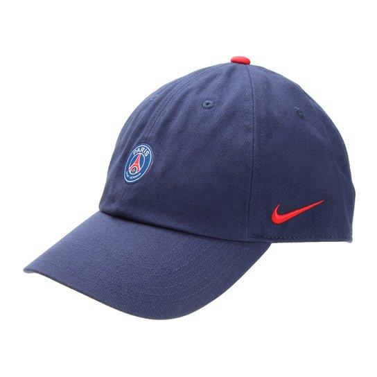 Boné Paris Saint Germain Nike Aba Curva - Marinho+Vermelho 114e2672540