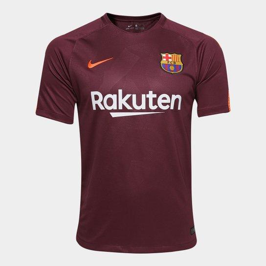 0c5607f0b8 Camisa Barcelona Third 17/18 s/n° - Torcedor Nike Masculina - Vinho ...