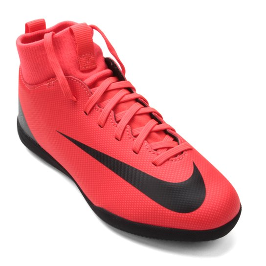 6245cf241 Chuteira Futsal Infantil Nike Mercurial Superfly 6 Club CR7 IC - Vermelho