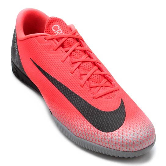 Chuteira Futsal Nike Mercurial Vapor 12 Academy CR7 IC - Vermelho ... 421e5272d05c6