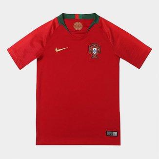 5f54178b3e659 Camisa Seleção Portugal Juvenil Home 2018 s n° Torcedor Nike