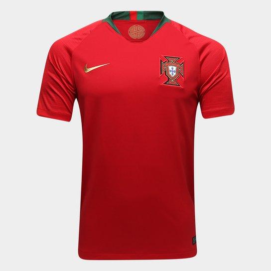 Camisa Seleção Portugal Home 2018 s n° Torcedor Nike Masculina - Vermelho 9108ee402b3e8