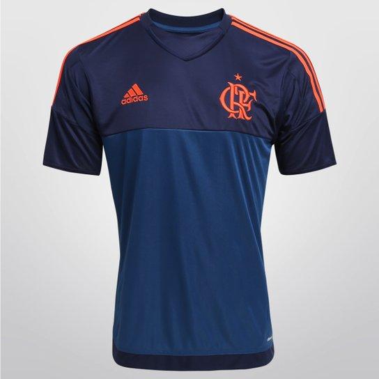 3565e0421cf93 Camisa Flamengo Goleiro 2015 s nº Torcedor Adidas Masculina -  Marinho+Laranja