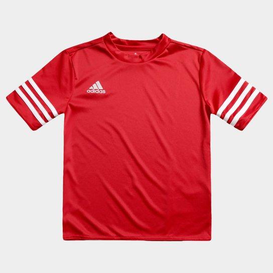 Camisa Infantil Adidas Entrada 14 - Vermelho - Compre Agora  74341ea9603