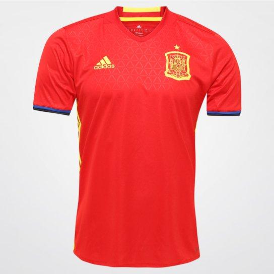 Camisa Seleção Espanha Home 2016 s nº Torcedor Adidas Masculina - Vermelho f7f6263d6bb96