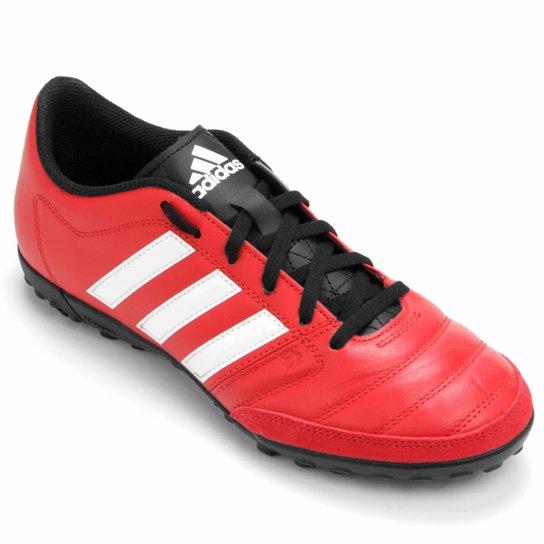 Chuteira Adidas Gloro 16.2 TF Society - Vermelho+Branco e0b9de68b783d