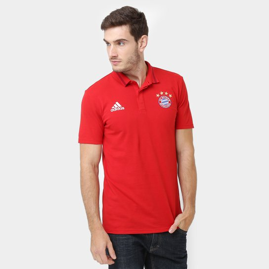 Camisa Polo Bayern de Munique Adidas Hino Masculina - Compre Agora ... e1becad4631